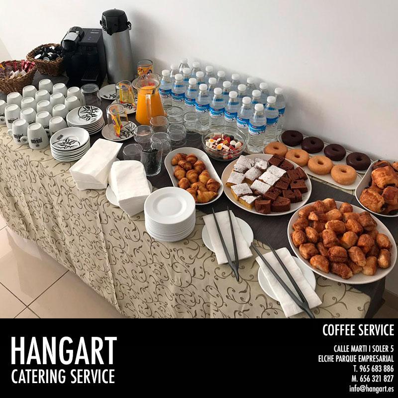 HANGART Coffe Restaurante en Elche Parque Empresarial Coffee en empresa para 14 personas