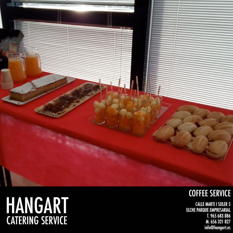 HANGART Coffe Restaurante en Elche Parque Empresarial Coffee en empresa para 70 personas
